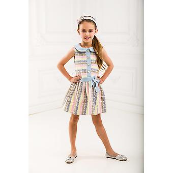 Mädchen-Jacquard-Kleid mit denim