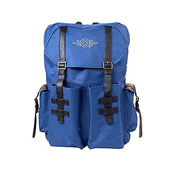 Fallout 76 Backpack Gold Foil Vault Tec Logo new Official PS4 Xbox Blue