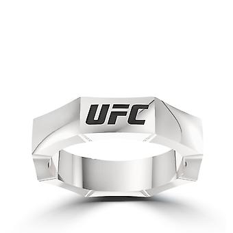 Ufc - Ufc 25Th Anniversary Limited Edition Octagon Ring In Sterling Silver
