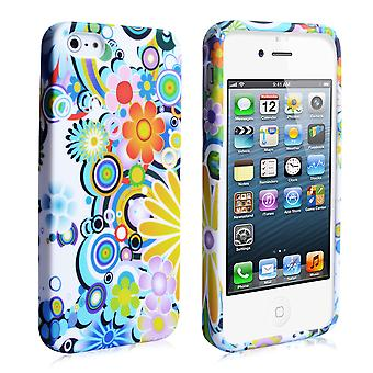 YouSave Accessories iPhone 5 5S Rainbow Floral Gel Case