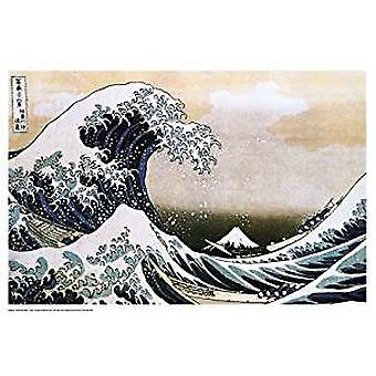 Poster - Hokusai - Great Wave Wall Art P0087