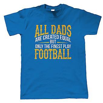 Fineste Dads spille fodbold Herre Sports T-shirt | Fodbold footy kick om omkring match spil bold | Fodbold rugby hockey basketball baseball boksning | Fædre dag gave ham far