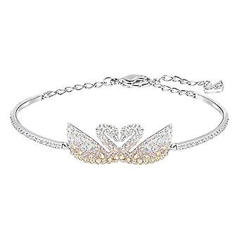 Swarovski Iconic Swan Rigid Bracelet - Multicolored - Rhodio Plating