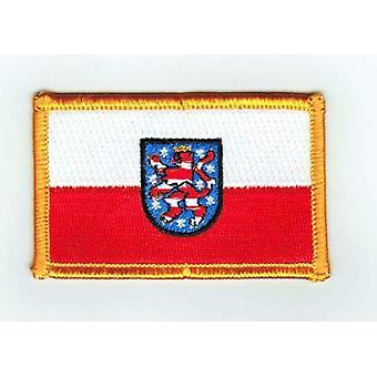 Patch Ecusson Brode Drapeau Thuringe  Allemagne Thermocollant Insigne Land