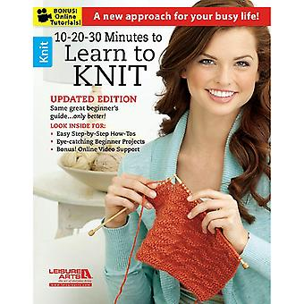Leisure Arts-10-20-30 Minutes To Learn To Knit LA-6395