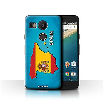 STUFF4 Case/Cover for LG Nexus 5X/Spain/Spanish/Flag Nations