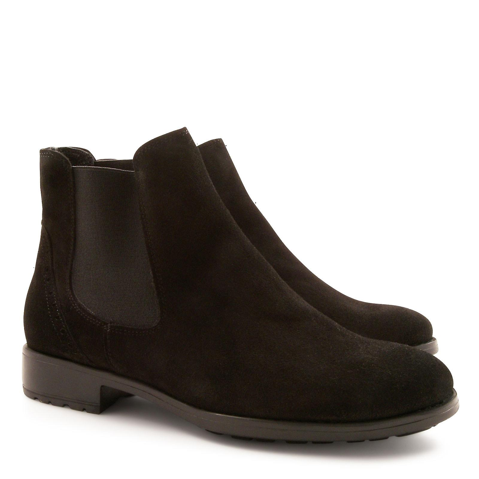 in chelsea Handmade for suede boots women leather qTEEfgnw