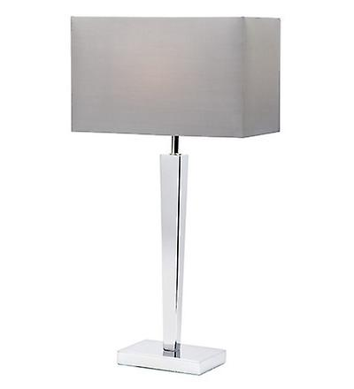 Endon MORETO Light Chrome Base Table Lamp With Fabric Shade