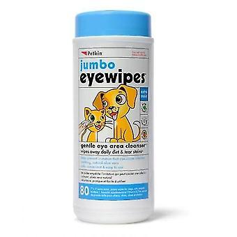 Wipes Eye pkt 80 (Petkin)