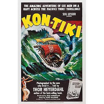 Kon-Tiki norwegischen Poster 1950 Film Poster Masterprint