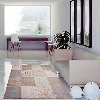 Louis De Poortere Rugs Vintage Multi 8238 Bolshoi Pink