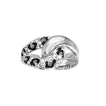 Guess ladies ring stainless steel Silver Crystal UBR51421