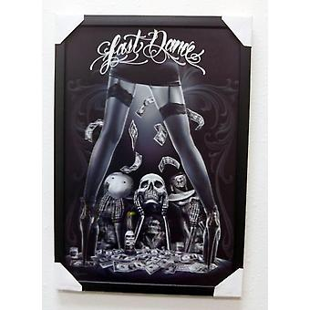 David Gonzales Art Last Dance 3D Framed Artwork Decoration Skeleton Stripper