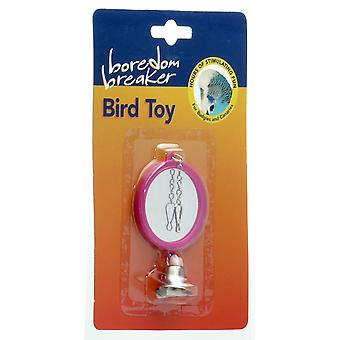 Boredom Breaker Budgie & Canary Double Mirror W/bell (Pack of 6)