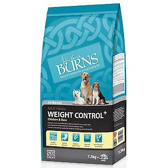 Burns vægt kontrol + voksen & Senior kylling & havre 7,5 kg