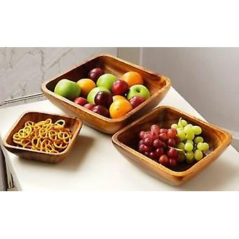 Monkey Pod Large Square Serving Dish