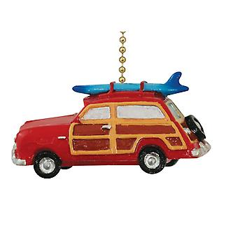 Surf Woody Surfboard Coastal Ceiling Fan Pull or Light Pull Chain