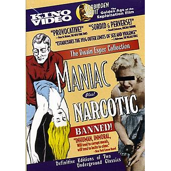 Maniac/Narcotic [DVD] USA import