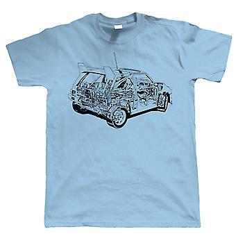 6R4 Diagramm, Mens Rallye Auto T Shirt