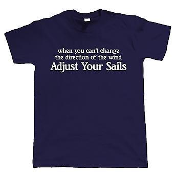 Vectorbomb, Adjust Your Sails, Mens Funny Sailing Tshirt