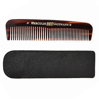 Hercules Sägemann Cellon Pocket Comb with Leather Case