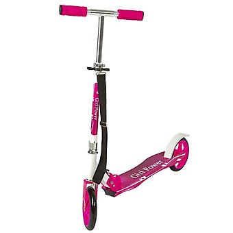 Trottinette patinette scooter enfant pliable rose 0108014