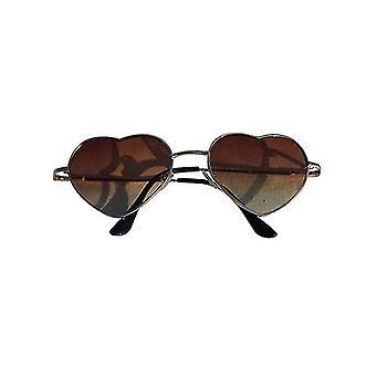 Trendy hearts Sunglasses brown