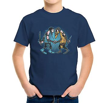 Mortal Kombat Spies Sub Zero Vs Scorpion Spy Vs Spy Kid's T-Shirt