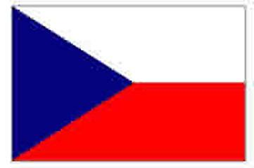 Czech Republic Flag 5ft x 3ft With Eyelets For Hanging