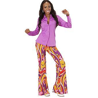 Women costumes Children Purple disco shirt for ladies