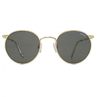 Randolph Engineering P3 Round Sunglasses In 23K Gold Grey