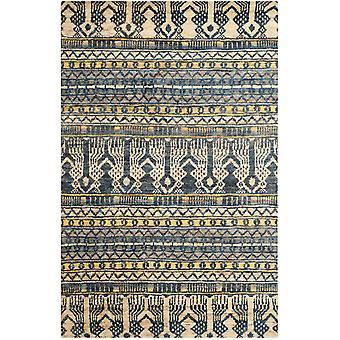 Taza blå Tribal Jute tæppe - Safavieh 121 x 182