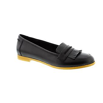 Clarks Andora Crush - Black Leather Womens Shoes