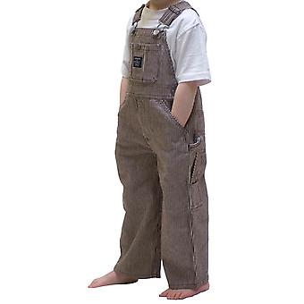 Key Industries Infant Dungarees - Brown Stripe Age 9mths 12mths Bib Overalls