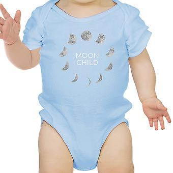 Moon Child Blue Baby Bodysuit Cute Graphic Baby Bodysuit Baby Gifts