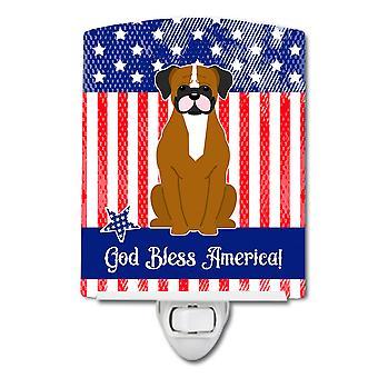 Patriotique USA Flashy Boxer fauve veilleuse céramique