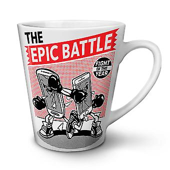 Epic Phone Battle Geek NEW White Tea Coffee Ceramic Latte Mug 17 oz | Wellcoda