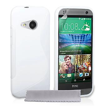 Caseflex HTC One Mini 2 siliconen Gel S-Line Case - wit
