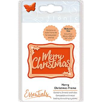Tonic Studios Miniature Moments Sentiment Die-Merry Christmas Frame 1769E