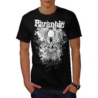 Paranoic Horror Fashion Men BlackT-shirt | Wellcoda