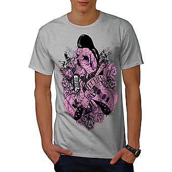 Rock N Roll Skull Männer graut-Shirt   Wellcoda