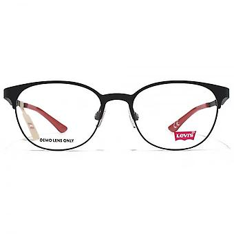 Levis Peaked Round Glasses In Matte Black
