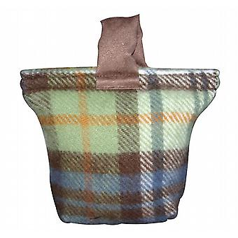Autumn Check Pure New Wool Door Stop