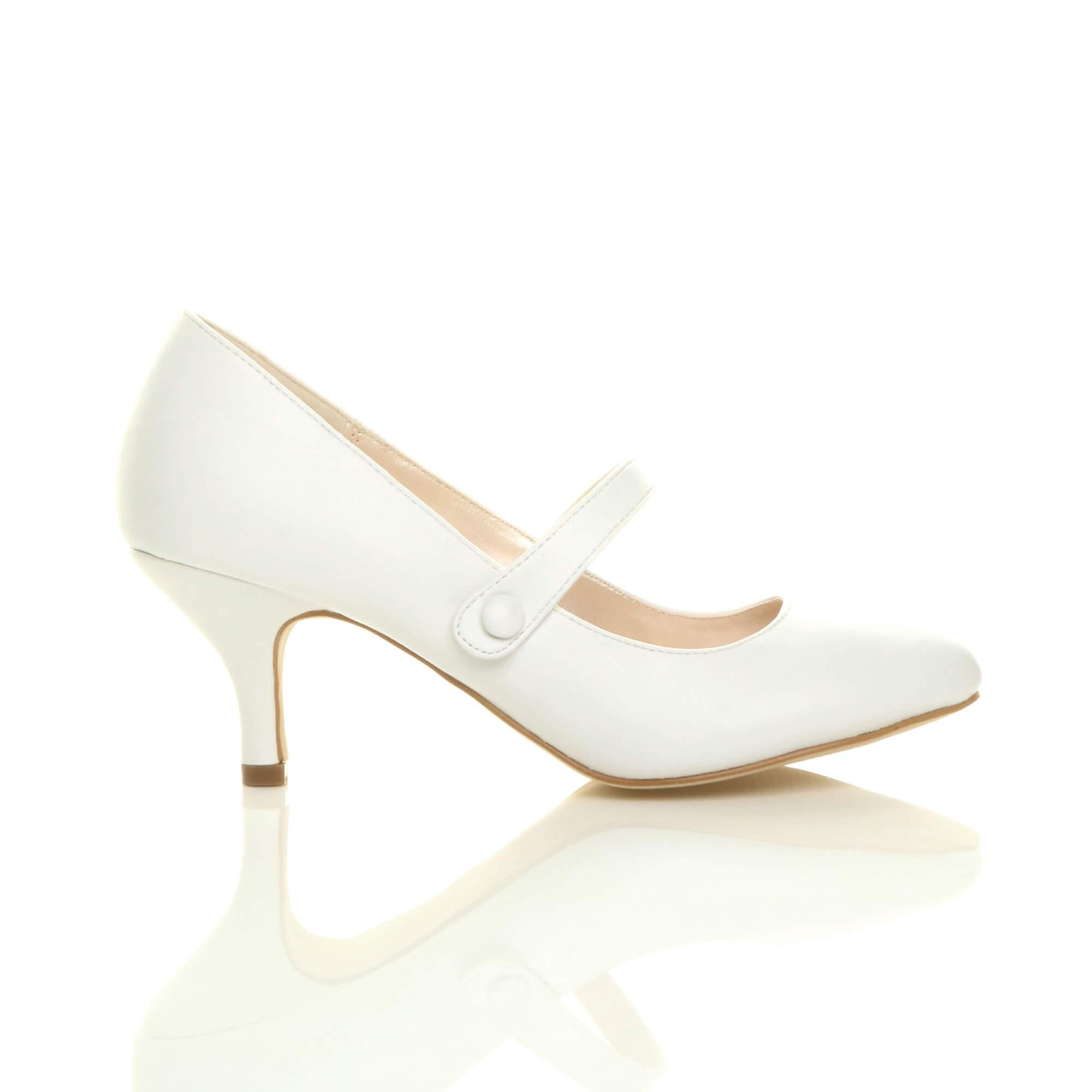 Ajvani donna donna donna low mid heel mary jane strap work party court scarpe pumps | Del Nuovo Di Arrivo