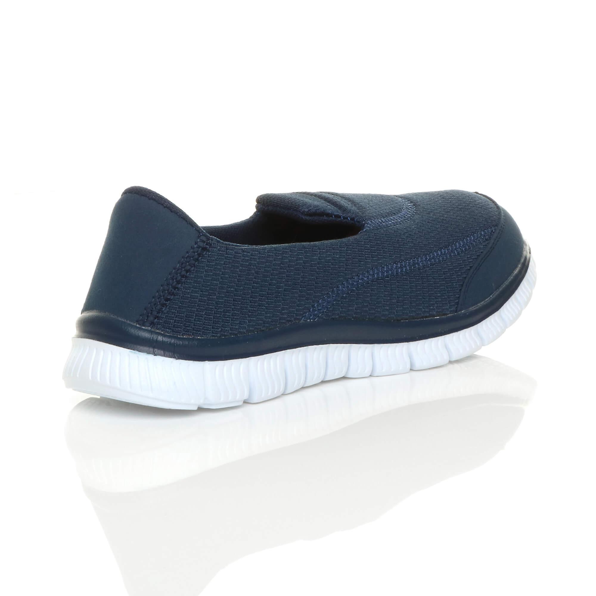 Ajvani Womens Fitness-Studio Sport Slip-on Memory Schaum Komfort Schuhe Trainer Sneaker flach