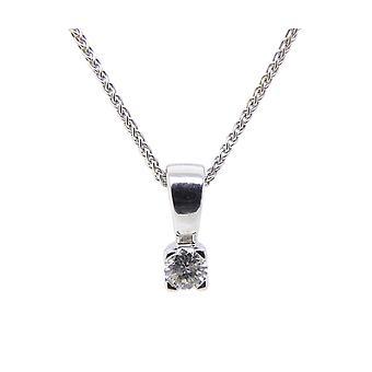 Christian white gold pendant with diamond