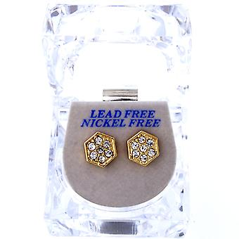 Iced out bling earrings box - SIX ANGLE gold