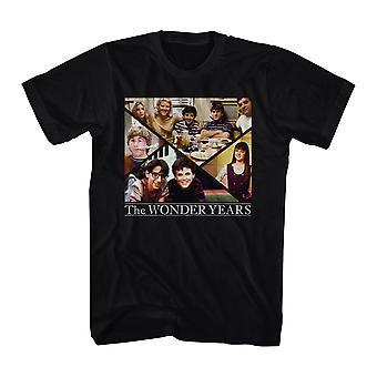 Underligt år familie Collage mænds sort T-shirt