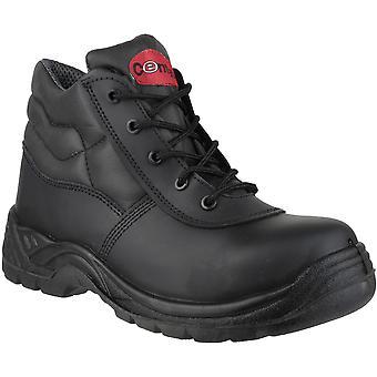 Centek Mens FS30C Leder S3 Arbeit Sicherheit Stiefel schwarz