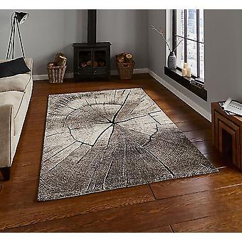 Bosque parece 2086 Beige rectángulo alfombras alfombras modernas